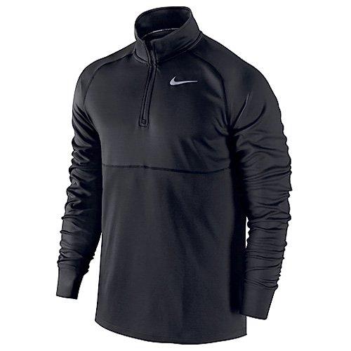 Nike Racer 1/2 Zip, Maglia da Corsa Uomo, Nero (Nero/Nero), M