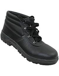AIMONT - Calzado de protección de Piel para hombre negro negro negro Size: 40 CZ1C0HxzY