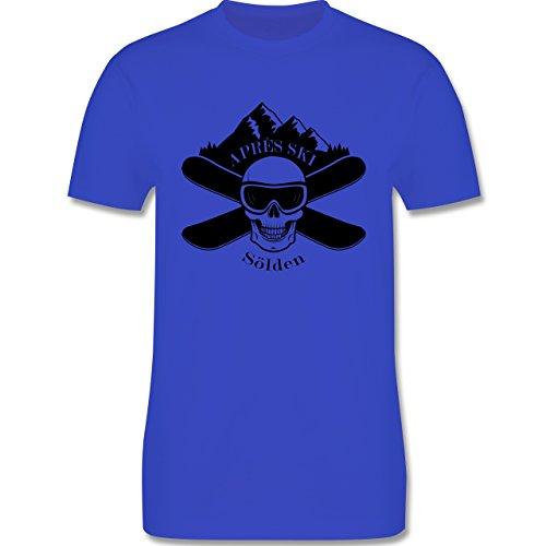Après Ski - Apres Ski Sölden Totenkopf - Herren Premium T-Shirt Royalblau