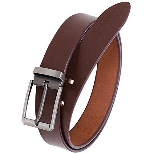 Kesari's 100% Genuine Leather Brown Smooth Look Casual and Formal Belts For Men and Boys (2 Year Money Back Guarantee)-belts for men leather original-belt for men formal leather-gifts for men-Please select your Belt size as per your Waist/pant/Jeans size from Drop Down Below