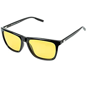 bc88a8e9601 Image Unavailable. Image not available for. Colour  Duco Anti-glare  Polarized Night Vision Driving Glasses for Headlight 3029 (BLACK)