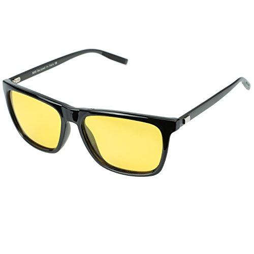 DUCO Nachtsicht Fahren Gläser Für Scheinwerfer Blendfreie Fahren Polarisierte Brillen 3029 (Schwarz)