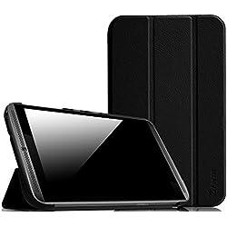 Fintie NVIDIA Shield Tablet K1 Étui Housse - Ultra-Mince PU Cuir Coque Case Cover avec Support Fonction et Sommeil/Réveil Automatique pour NVIDIA Shield Tablette K1 8 Pouces, Noir