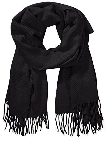 PIECES, Unisex Schal KIAL LONG SCARF NOOS, Schwarz(Black), One size