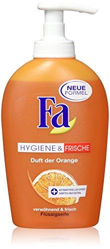 Fa Hygiene und Frische Flüssigseife, Duft der Orange, 2er Pack (2 x 250 ml) (Antibakterielle Reinigung Seife)