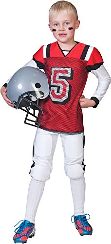 American Football Kostüm für Jungen Gr. 116 - Tolle Verkleidung als American Football Spieler zur Highschool oder Profisportler an (Jungen Spieler Für Football Kostüme)