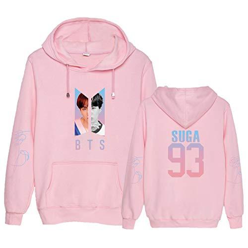 Dolpind Kpop BTS Love Yourself Kapuzenpullover Suga Jimin V Jungkook Pullover, Jungen, Pink Suga, Large -