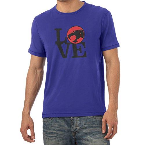 TEXLAB - Thunder Love - Herren T-Shirt, Größe M, marine (Amor Kostüm Für Herren)