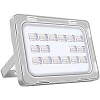 Viugreum Lampada LED Esterni 50W Impermeabile di VI Generazione Basso Consumo Lampada Luce Potente Super Luminosa Faretto da Giardino Garage Bianco Freddo