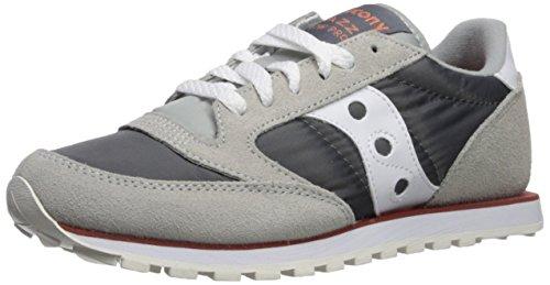 Saucony Originals Women's Jazz Low Pro Running Shoe, Grey/White, 10 Medium US -