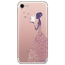 Yimer iPhone 7 Hülle, transparentes TPU Case Silikon der Tiere Backcover Handyhülle kreatives Design Panda Muster Bedecken zurück für Apple iPhone 7 Case Cover (iPhone 7, 1)