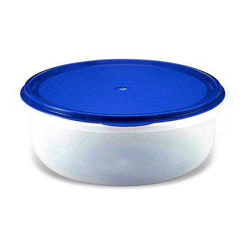 HC-Handel 930019 Hefeteigschüssel mit Deckel Kunststoff 6 Liter transparent/blau