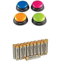 Learning Resources Buzzers - Jeu de 4 avec les batteries AmazonBasics