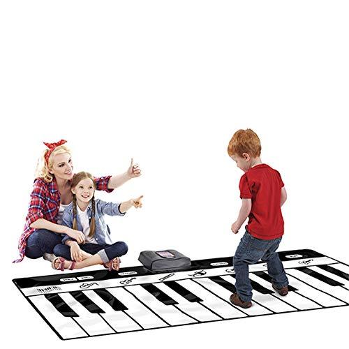 QINAIDI 24 Tasten Keyboard Spielmatte für Jungen und Mädchen, 9 Verschiedene Musikinstrumente Sound-Optionen, können gefaltet Werden