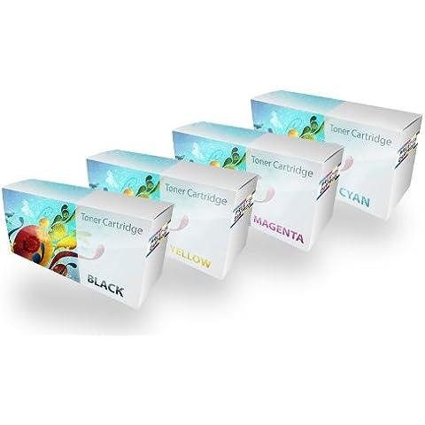 Prestige Cartridge C430/C480 - Pack de 4 cartuchos de tóner láser para Samsung Xpress SL-C430W/SL-C480FW/SL-C480W, tricolor y