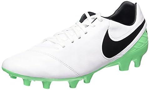 Nike Herren Tiempo Mystic V FG Fußballschuhe, Weiß (White/Black-Electro Green), 45 EU