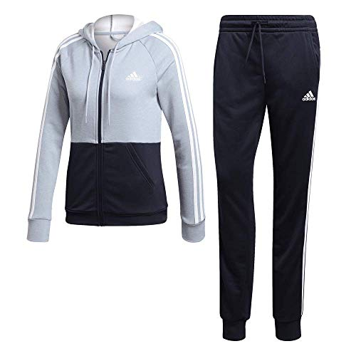 adidas Damen Game Time Trainingsanzug, Ash Grey/Legend Ink/White, XS
