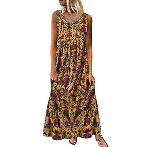 Polka Dot Pullover Kleid (Rosennie Übergroßes Kleid Damenkleid für Damen Lose Party Langes Kleid Sommerkleid Frauen Beiläufig Blumenkleid Ärmellos Große Größen Kleid für Mollige Gedruckt Langes Maxi Kleid)