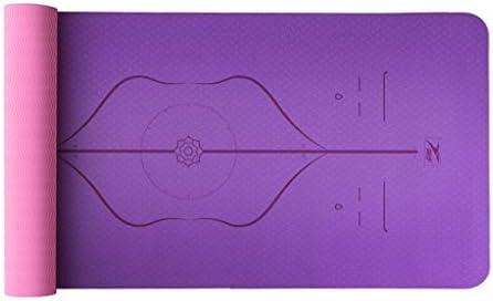 ASJHK Yoga Mat Mat Mat principiante Tappetino Fitness Tre Pezzi allargamento Ispessimento Lungo TPE Antiscivolo Tappeto da Ballo stuoia Yoga Linea del Corpo Stuoia di Yoga (Coloreee   C, Dimensioni   6mm) B07PB844QS Parent   I più venduti in tutto il mondo    Po 4e4889