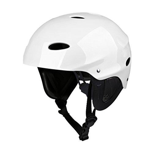 Sharplace Wassersporthelm für Kajakfahren Kanufahren Wakeboarden Rafting Sportarten - Weiß - L