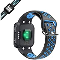 WEINISITE Watch Strap for Garmin forerunner 35,Double Color Soft Silicone Replacement Wristband for Garmin forerunner 35 Smart Watch