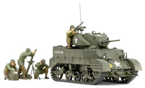 Tamiya 300035313 - Modellino di carro armato leggero americano M5 Stuart con mortaio, scala 1:35, II Guerra Mondiale
