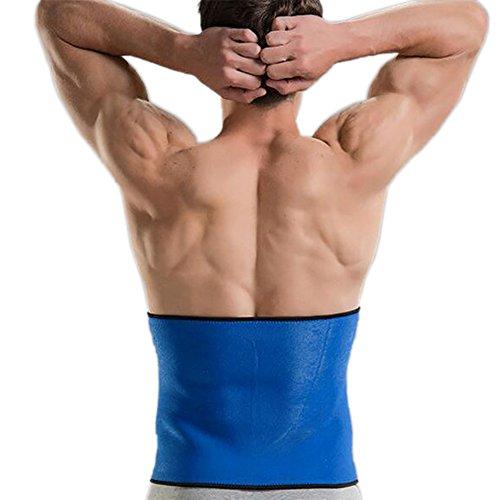 Gogo Taille Trainer Wrap/Bauch Schlanker Gürtel für Gewicht Verlust, Neopren Blau blau xl