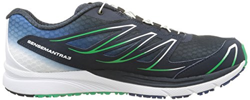 Salomon - Sense Mantra 3 - Sneaker, homme multicolore (Deep Blue/Wh/Real Green)