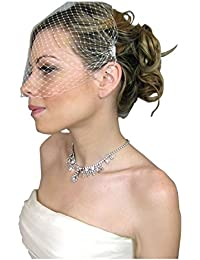 c3d3b4ad7b8716 Jelinda Femme Mariage Birdcage visage Voile Bibi Soirée voiles blancs avec  peigne