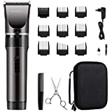 WONER Men's Hair Trimmer Professional Hairdresser for Battery-Powered and  Mains Operated as Trimmer with Robust Storage Case 35 Lengths Long Hair