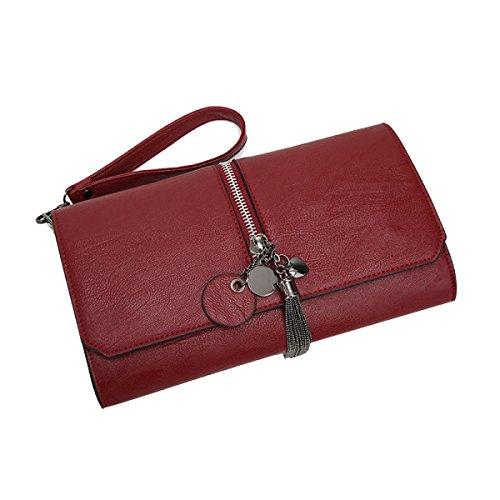 Yy.f Fransen Einfache Handhandtasche Temperament Handtaschen Neue Wilde Umhängetasche Eine Kleine Tasche Flut Red