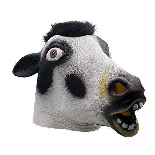 Queenshiny® Latex Tiermaske Halloween-Party-Kostüm (Kuh Gesicht Kostüm)