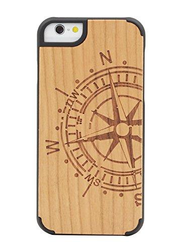 """eimo Apple iPhone 6 4.7"""" Original Cover Case bois avec bords noirs et d'absorption des chocs Couche pour iPhone 6 4.7 pouces --16 23"""