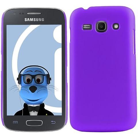 iTALKonline Samsung Galaxy Ace 3 GT-S7275 PORPORA Difficile Saluto dura della cassa della pelle Soft Grip Slim