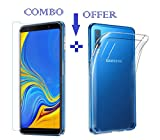 #5: Sanguine Tempered Glass & Back Cover Best Quality [Combo-Transparent] Soft Flexible Case for Samsung Galaxy A7 2018