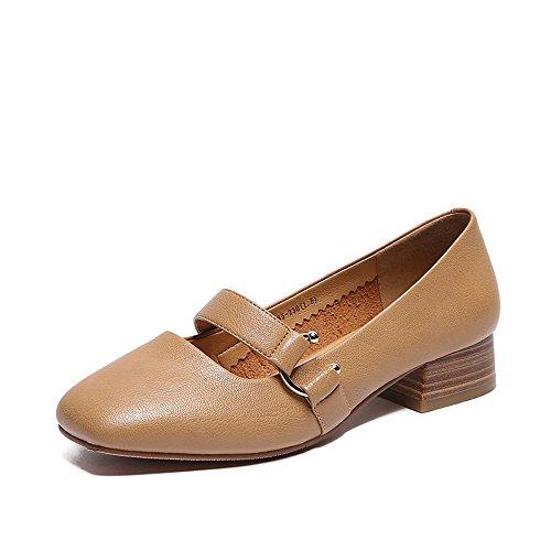 XZGC Carré Rétro Chaussures Étudiant avec La Mode Chaussures Femmes