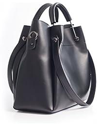 """Original JQ Designer Handtasche, Henkeltasche, Schultertasche (Bag in Bag) für Damen in Schwarz. Jakquzel Luxury Collection 2018 """"Cécile"""""""