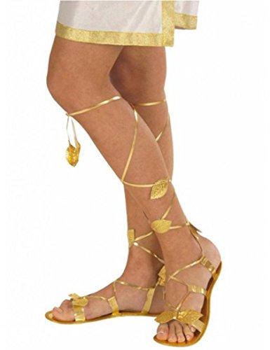 len - zum Kostüm Gladiatorin Göttin oder Cleopatra (Cleopatra Kostüm Schuhe)