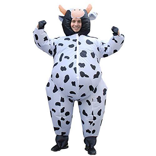 BaronHong Phantasie Erwachsene Aufblasbare Kleidung Halloween Kostüm Cosplay Party Time (Kuh, M)