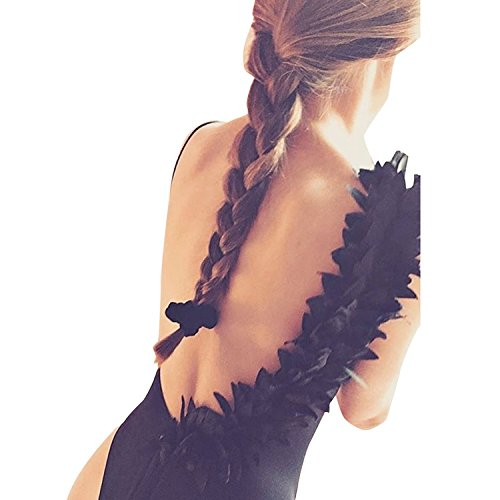 Vandot donna Solido Costumi da Bagno Un Pezzo Bikini Costumi Backless Sweet Sexy fiore pizzo design Swimwear donne ragazza senza schienale Push-up Swimsuit Beachwear Estate Spiaggia Design 2