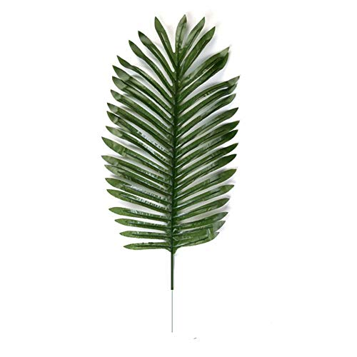 CAN_Deal 20 Stück Künstliche Ombre Kwai Blatt-Zweig-gefälschte Palme-Anlagen Gras-Blume für Hauptwand-Garten-Hochzeit DIY Dekoration, Groß, dunkelgrün