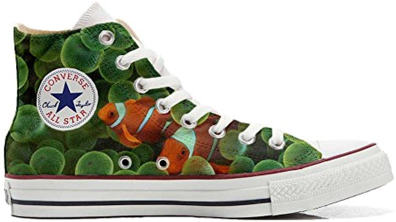 Converse All Star Personalisierte Schuhe (Custom Produkt) mit Goldfisch