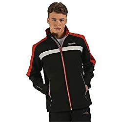 Regatta Parkley Softshell Insulated Water Repellent Mens Stretch Sports Jacket Black Small