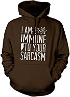 HotScamp Premium I Am Immune to Your Sarcasm Mens Hoody Many Colours All Sizes Hoodie