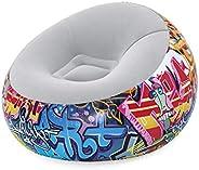 Bestway Graffiti Inflate Airchair, Multi-Colour, 112 x 112 x 66, 75075