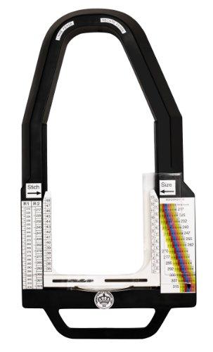Fussmessgerät Mondopoint R2 - kombinierter Längen- Weitenschieber zur Vermessung von Sicherheitsschuhen (Peeling Länge)