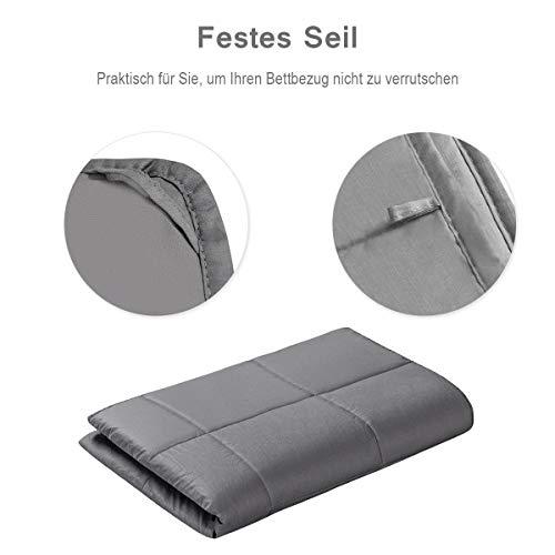 COSTWAY Gewichtsdecke für Erwachsene und Kinder | Schwere Decke Baumwolle | Weighted Blanket Grau (104 x 153 cm, 3) - 7