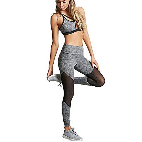 TianWlio Damen Sport Leggings Trainingsanzug Hohe Elastizität Sportbekleidung Halfter Sport Leggings Fitness Anzüge Für Yoga, Laufen und Andere Aktivitäten