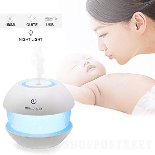 Raawan Magic Diamond Cool Mist Essential Oil Diffuser Aroma Air Humidifier with LED Night Light Colourful Change for Car, Office