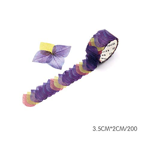 Harwls Roll Masking Scrapbook Sticker Sticky Paper Flower Petals Tape Washi Tape -